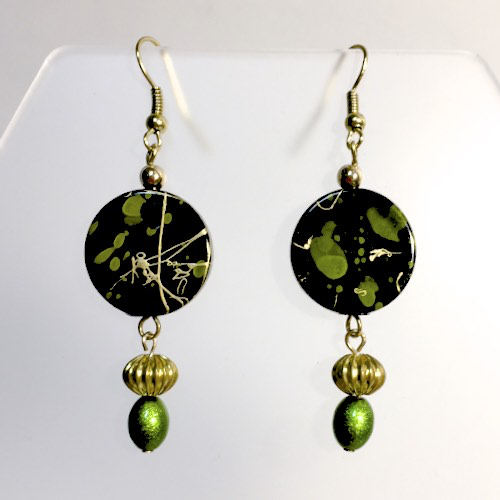 Lime Splash Earrings by Stephanie Heller Durr - © Blue Pomegranate Gallery