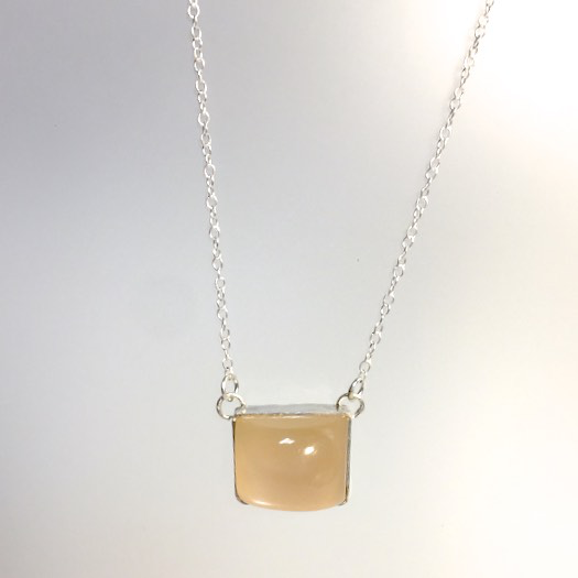 Peach Moonstone Necklace by Cassie Leaders