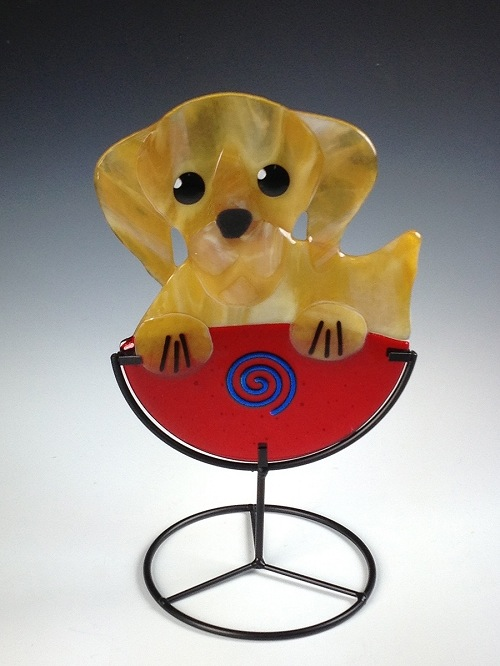 Golden Pup Cup by Charlotte Behrens - © Blue Pomegranate Gallery