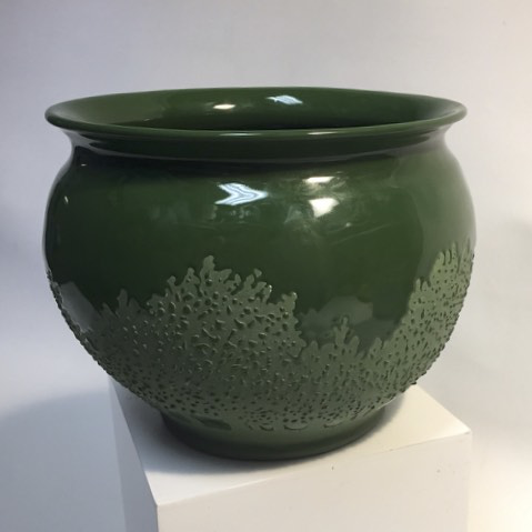 DK Green Pot with Green Trees by Tim Axtman, 5 x 6 1/2""