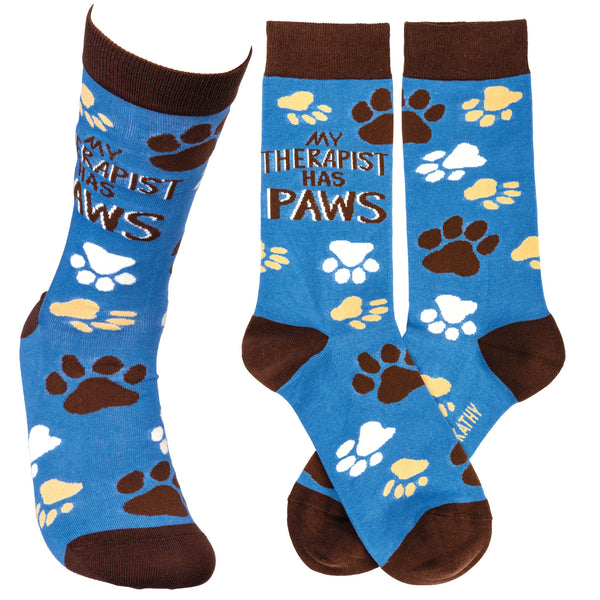 My Therapist has Paws Socks from Primitives by Kathy - © Blue Pomegranate Gallery