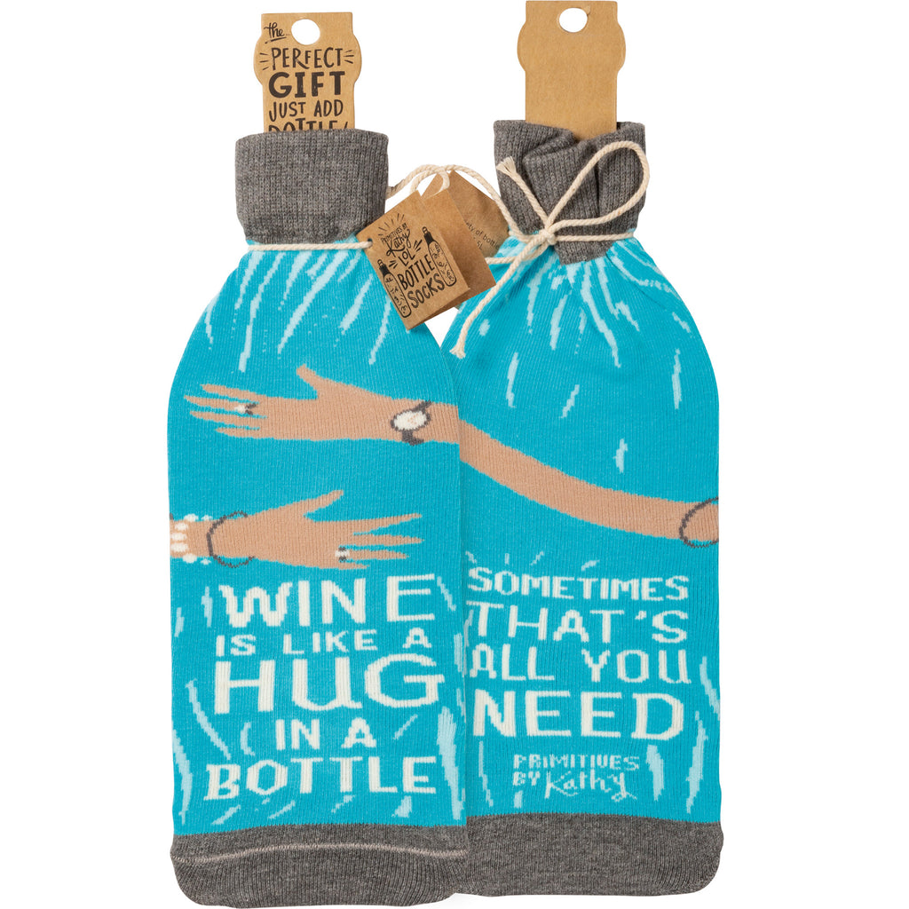 Hug In A Bottle - Bottle Sock from Primitives by Kathy - © Blue Pomegranate Gallery