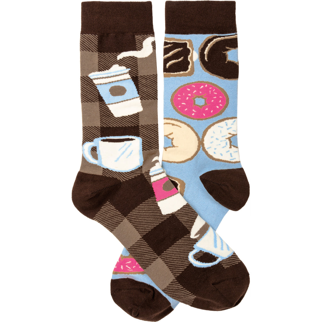 Coffee & Donuts Socks from Primitives by Kathy - © Blue Pomegranate Gallery