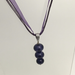Purple 3 Bubble Glass Bead Necklace by Charmaine Jackson