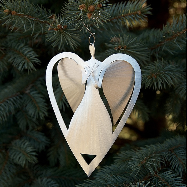 Angel Heart Ornament by Sondra Gerber