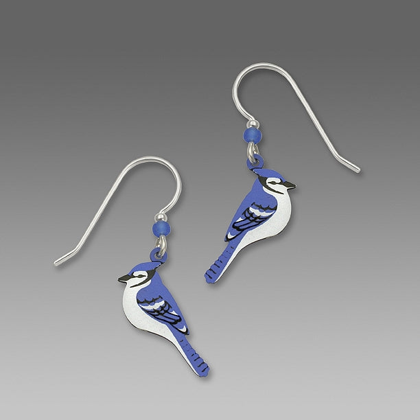 1350 Blue Jay side view Earrings by Barbara MacCambridge - © Blue Pomegranate Gallery