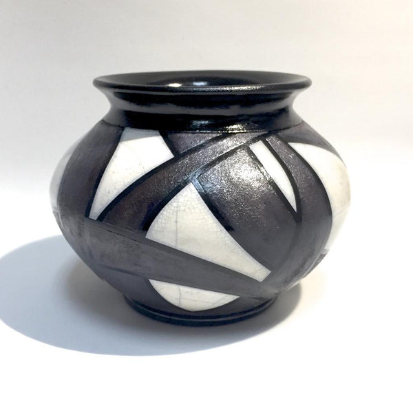 MED Deco Style Raku Vase by Tim Axtman