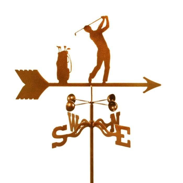 Golfer Weathervane by Debra - © Blue Pomegranate Gallery