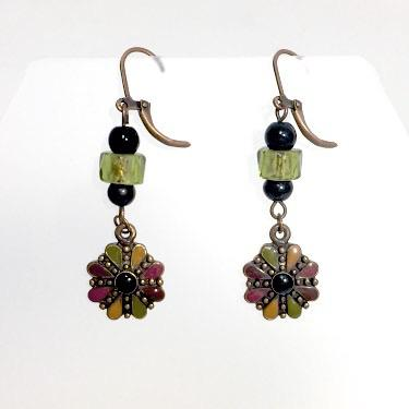 Aster Earrings by Stephanie Heller Durr - © Blue Pomegranate Gallery