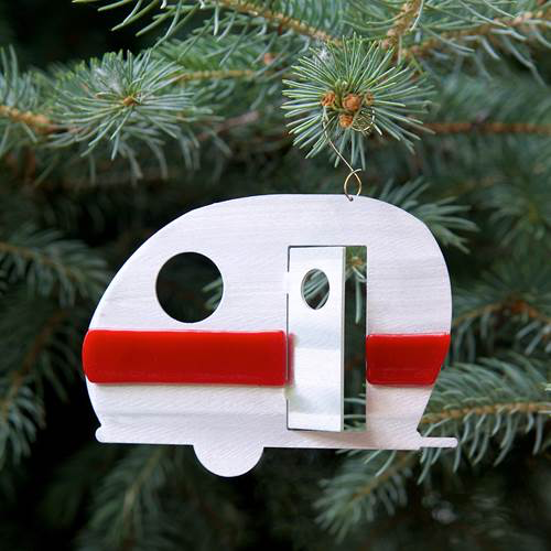 Happy Camper Ornament by Sondra Gerber