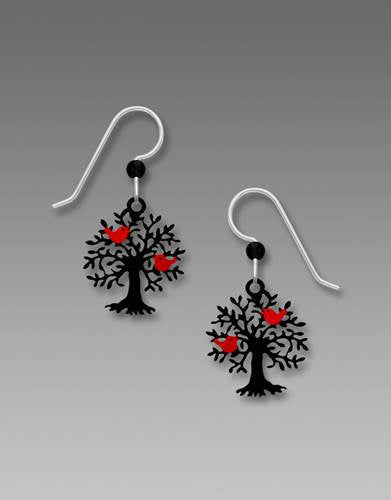 1810 Tree Of Life With Birds Earrings by Barbara MacCambridge - © Blue Pomegranate Gallery
