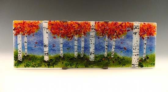 "5 x 15"" Aspen Grove Platter by Laura Johnson - © Blue Pomegranate Gallery"