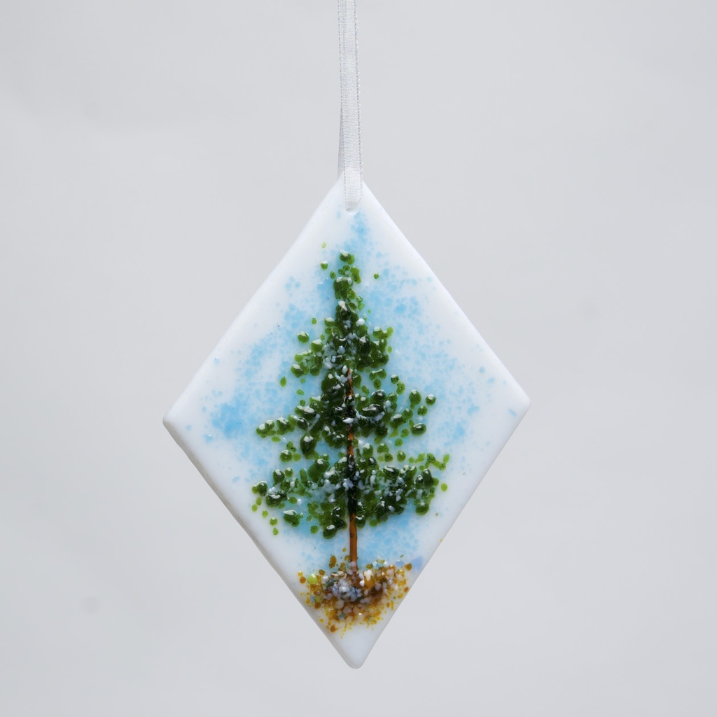 Evergreen Tree Ornament by DeMoss