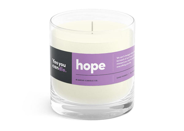 Hope Yes You CANdle, 8 oz. 100% Soy, hand poured, 60 hr burn time - © Blue Pomegranate Gallery