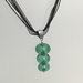Green 3 Bubble Glass Bead Necklace by Charmaine Jackson