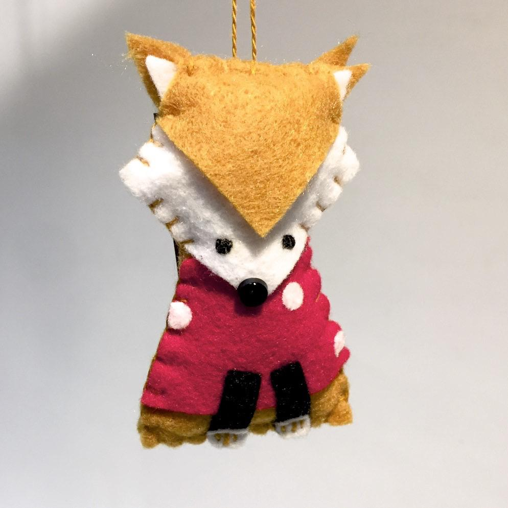 Felted Fox Ornament by Lois Froistad - © Blue Pomegranate Gallery