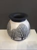 "LG White Vase with trees 9 1/2 x 8"" by Tim Axtman"