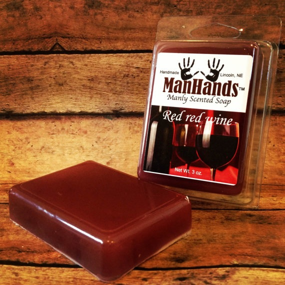 Red Wine Soap by Man Hands