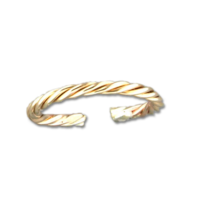 Twisted Gold Filled Ring, Adj. Size by Mark Steel