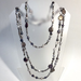 Extra Long Black Random Pearl Necklace 72""