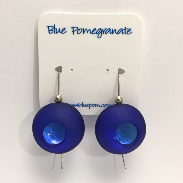 Cobalt Atomic Orb Earrings by Delores Barrett