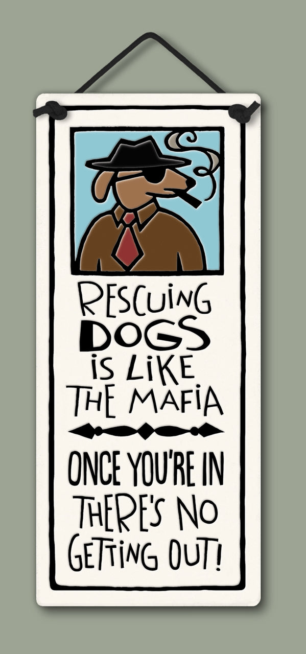 """The Mafia"" plaque by Michael Macone - © Blue Pomegranate Gallery"