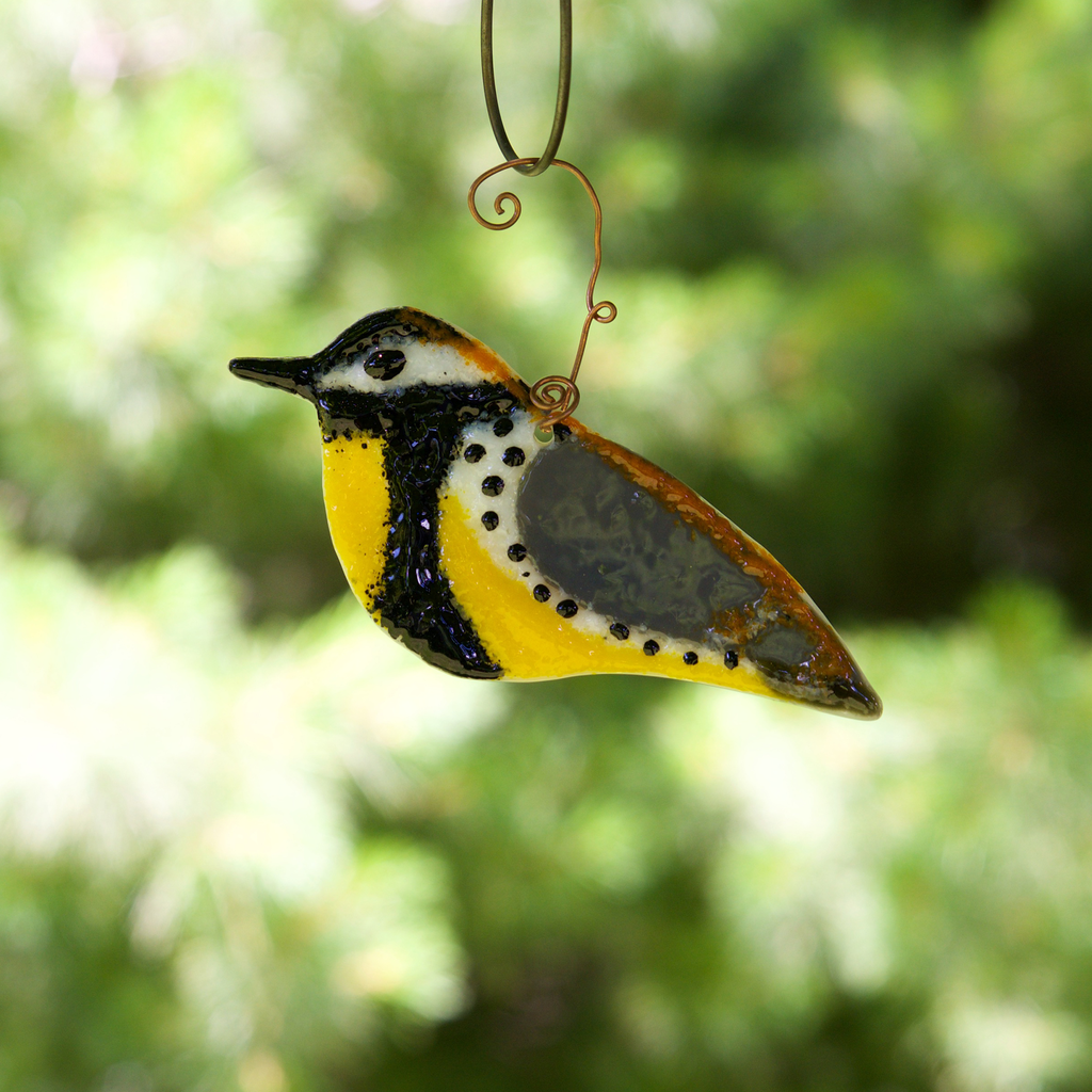 Meadowlark Suncatcher by Heidi Riha - © Blue Pomegranate Gallery