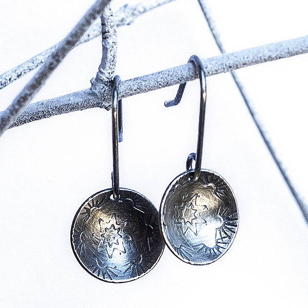 HMQ - Southern Touch- St. Silver Earrings by McQueen - © Blue Pomegranate Gallery