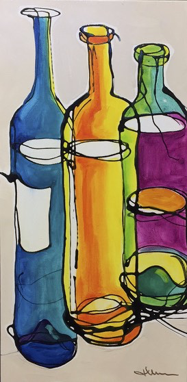 Colorful Bottles 2 by Jean Mason - © Blue Pomegranate Gallery