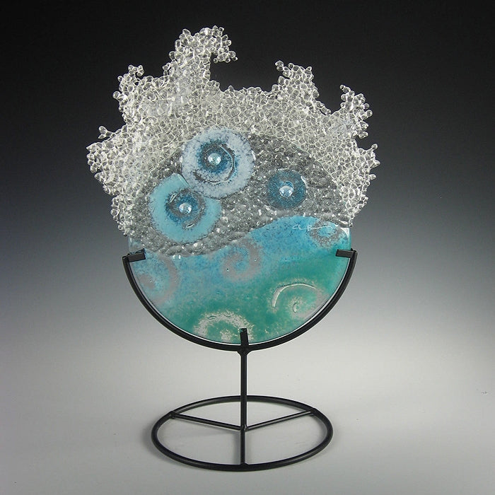 Mini Aqua Splash in stand by Charlotte Behrens - © Blue Pomegranate Gallery