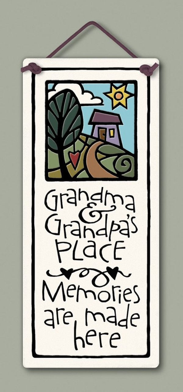 """Grandma & Grandpa's"" plaque by Michael Macone - © Blue Pomegranate Gallery"