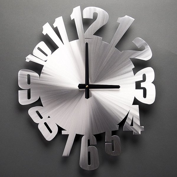 "Warped Wall Clock 18"" by Sondra Gerber"
