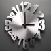 "Warped Wall Clock by Sondra Gerber 15 x 18"" - © Blue Pomegranate Gallery"