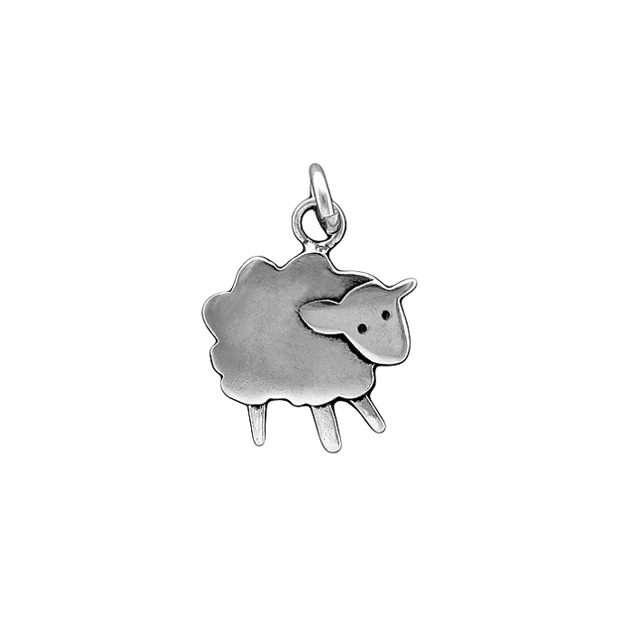 Sterling Silver Fluffy Lamb Necklace by Mark Poulin - © Blue Pomegranate Gallery