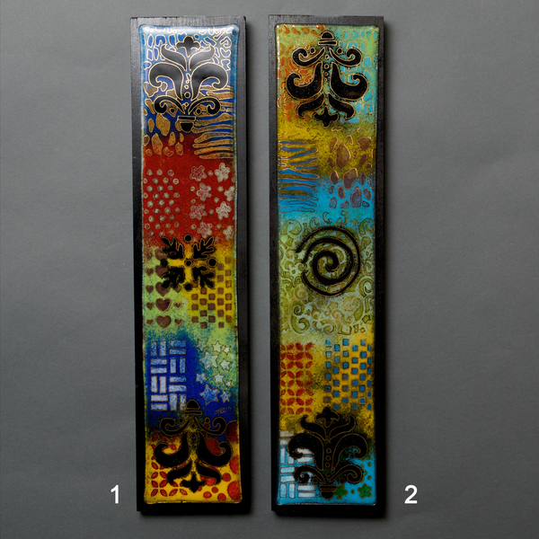 Glass Panel 1 by Jaky and Jeff Felix 5.5x24 - © Blue Pomegranate Gallery