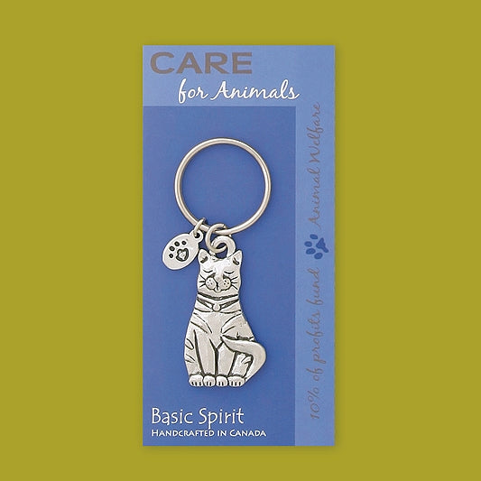 Cat Contribution Keychain by Bonnie Bond - © Blue Pomegranate Gallery