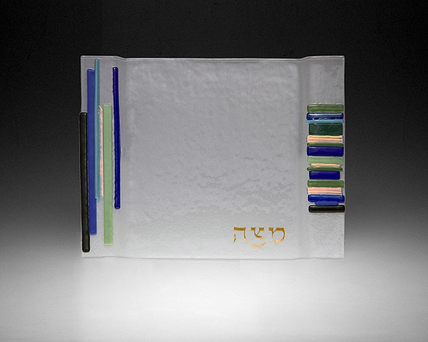 Duo Linear Blue/Green Square Seder