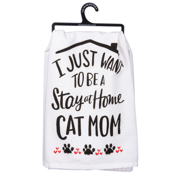 Cat Mom- Dish Towel from Primitives by Kathy - © Blue Pomegranate Gallery