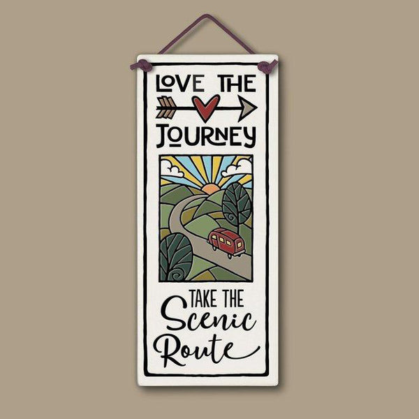 "Flat Plaque ""Love the Journey"" by Michael Macone - © Blue Pomegranate Gallery"