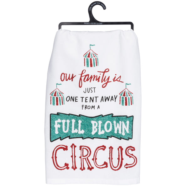 One Tent Away From A Circus- Dish Towel from Primitives by Kathy - © Blue Pomegranate Gallery
