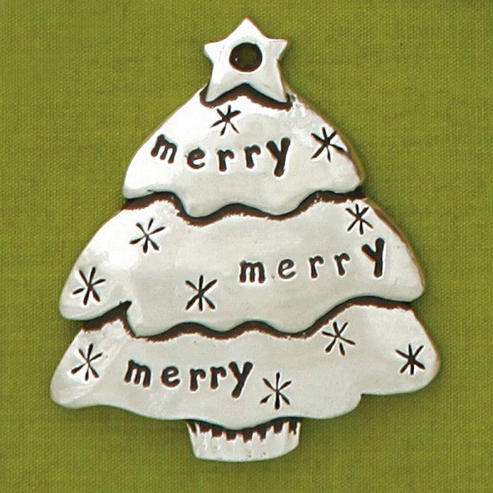 Merry Tree Jolly Ornament by Bonnie Bond - © Blue Pomegranate Gallery