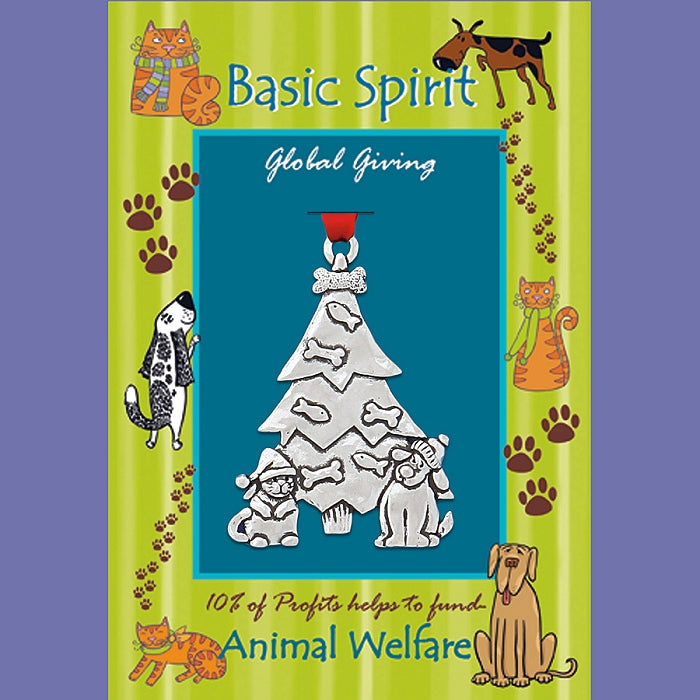 Dog/Cat Tree Welfare Ornament by Bonnie Bond - © Blue Pomegranate Gallery