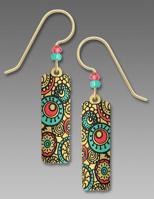 7653 Column with Whimsy Circles & Patterns Earrings by Barbara MacCambridge - © Blue Pomegranate Gallery