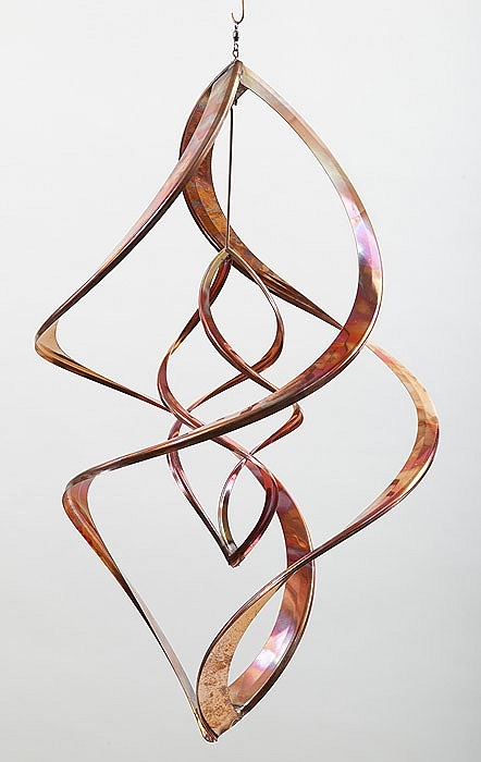 "Double Infinity 20"" Copper Spinner by Bradley Cross - © Blue Pomegranate Gallery"