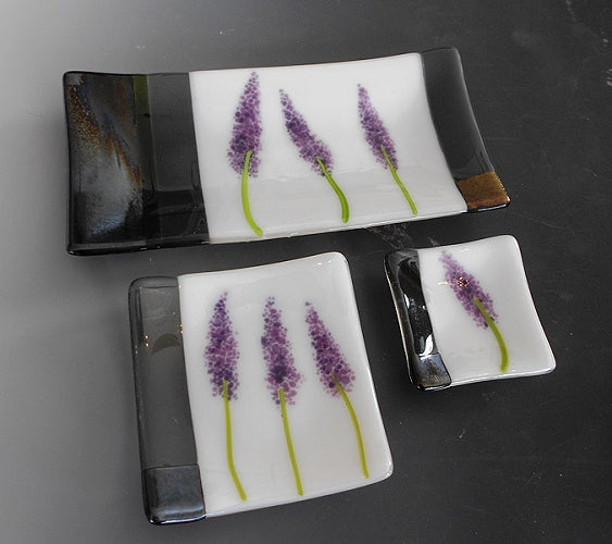"Lavender Dish 5 x 10"" - © Blue Pomegranate Gallery"