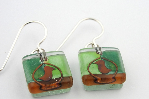 Oven Bird Earrings by Edo Mor - © Blue Pomegranate Gallery