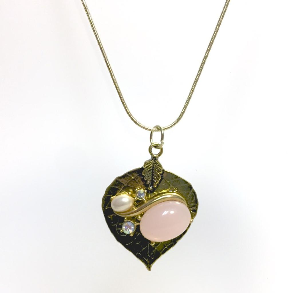 Duchess in Pink Leaf Necklace by Stephanie Heller Durr - © Blue Pomegranate Gallery