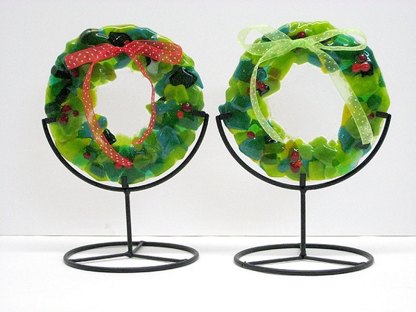 Mini Ribbon Wreath by Anne Nye - © Blue Pomegranate Gallery