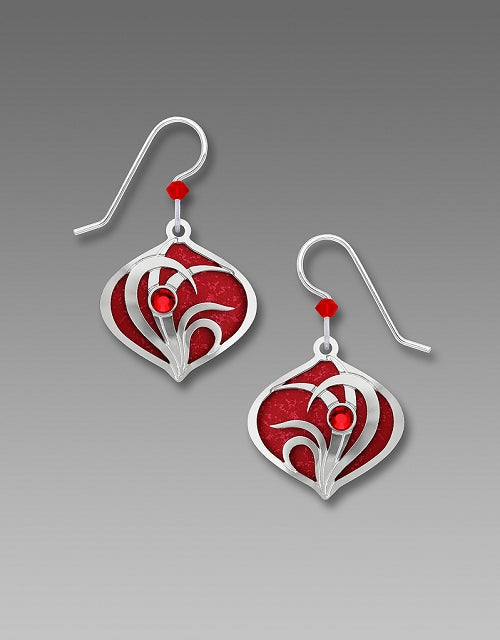 7685 Brilliant Red Moorish Drop Earrings by Barbara MacCambridge - © Blue Pomegranate Gallery