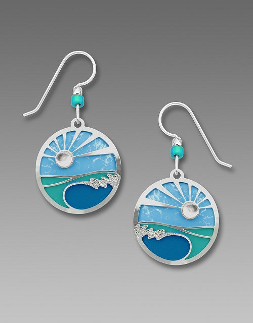 7703 Caribbean Blues Disc Earrings by Barbara MacCambridge - © Blue Pomegranate Gallery